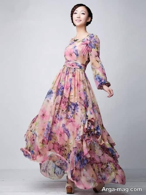 Long silk dress 9 - مدل لباس حریر بلند برای خوش پوش بودن در مجالس و مهمانی ها