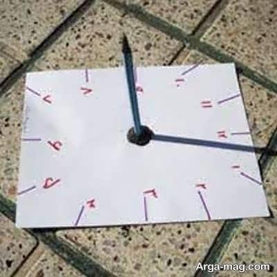 مدل کاردستی ساعت آفتابی