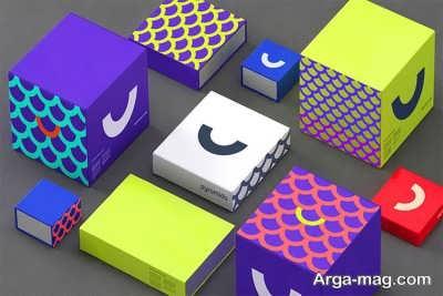 ساختن جعبه مقوایی در رنگ های مختلف