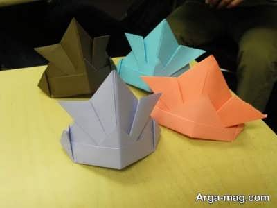ساختن کلاه کاغذی اوریگامی
