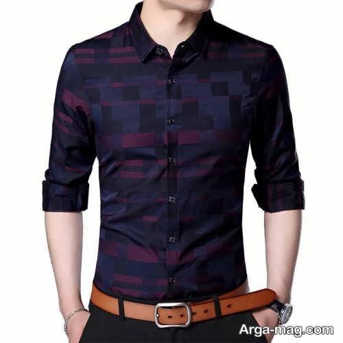 مدل پیراهن مردانه 2018 طرح دار