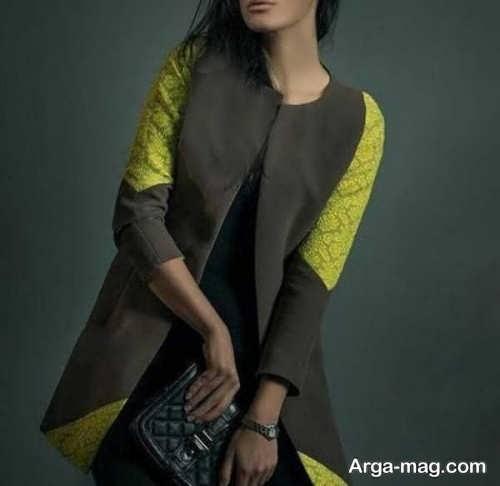 مدل مانتو گیپور کار شده دخترانه