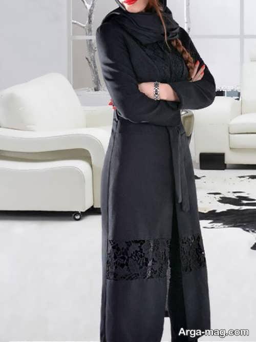 مدل مانتو گیپور کار شده بلند