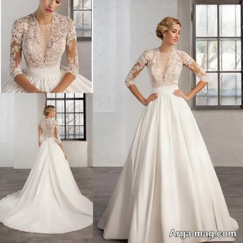 لباس عروس یقه هفت