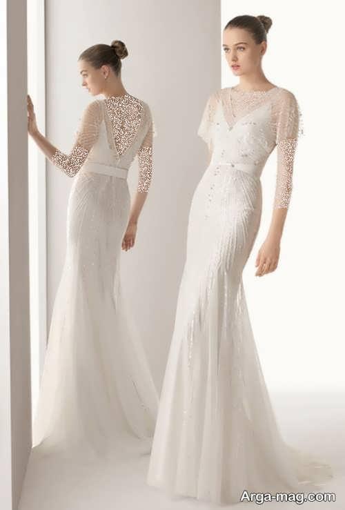 مدل لباس عروس شیک و بلند