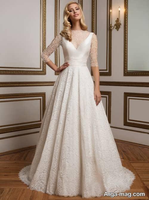 مدل لباس عروس بلند و زیبا