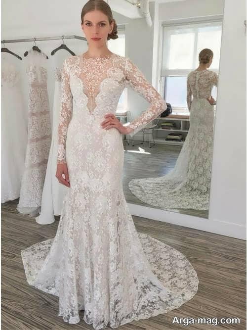 مدل لباس عروس یقه هفت