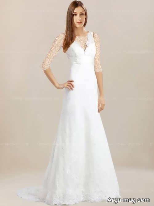 مدل لباس عروس یقه هفت شیک و زیبا