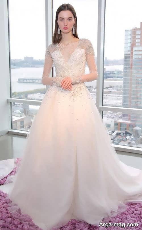 مدل لباس عروس یقه هفت زیبا و خاص