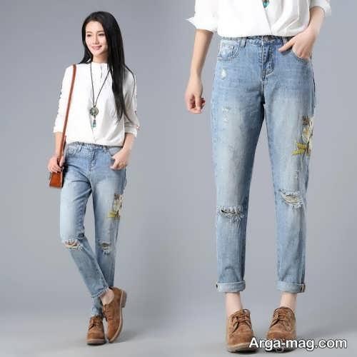 شلوار جین کره ای دخترانه