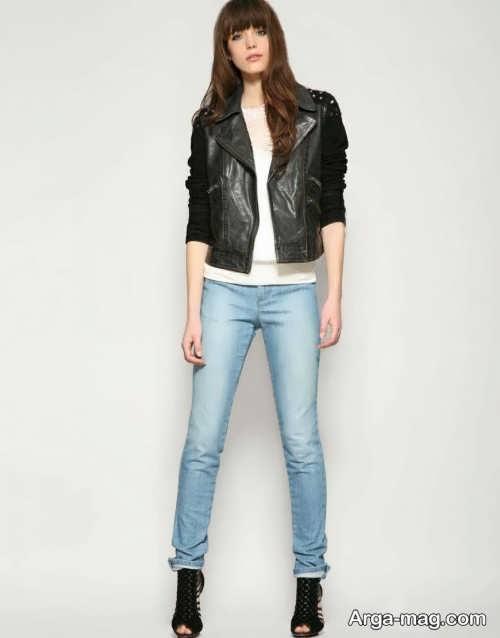 شلوار جین رنگ روشن