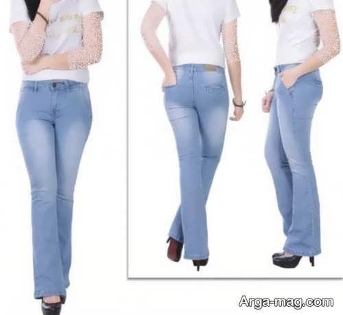مدل شلوار جین دم پا