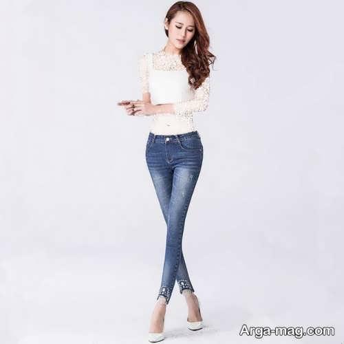 مدل شلوار جین سایه دار