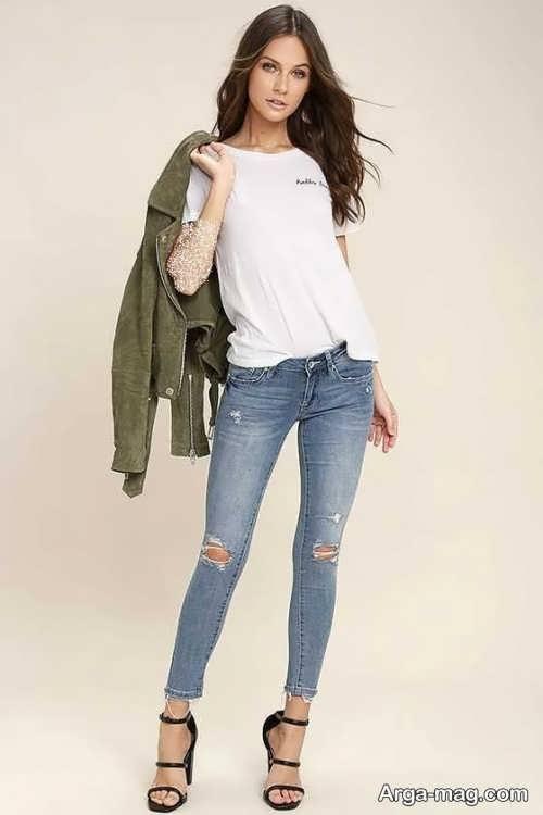 مدل شلوار طرح دار جین
