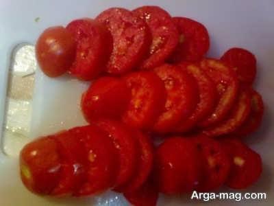 خرد کردن گوجه فرنگی