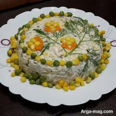دستور پخت یک سالاد الویه خوشمزه برای افرادی که رژیم دارند
