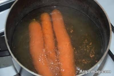 آب پز کردن هویج
