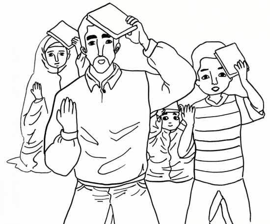 Painting of mah Ramazan 011 - نقاشی ماه رمضان برای کودکان با چند طرح ساده و آموزنده