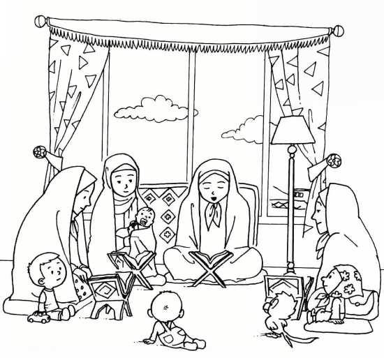 نقاشی کودکانه ماه رمضان