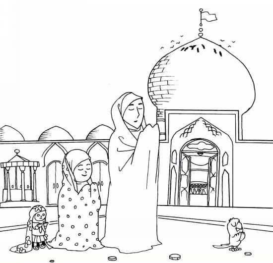 Painting of mah Ramazan 014 - نقاشی ماه رمضان برای کودکان با چند طرح ساده و آموزنده