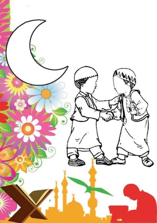 Painting of mah Ramazan 017 - نقاشی ماه رمضان برای کودکان با چند طرح ساده و آموزنده