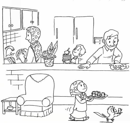 Painting of mah Ramazan 019 - نقاشی ماه رمضان برای کودکان با چند طرح ساده و آموزنده