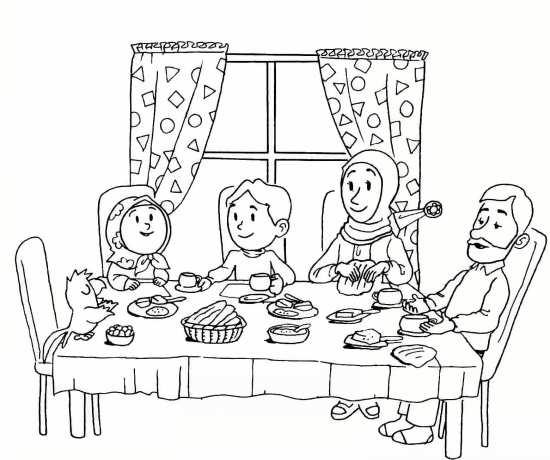 Painting of mah Ramazan 021 - نقاشی ماه رمضان برای کودکان با چند طرح ساده و آموزنده