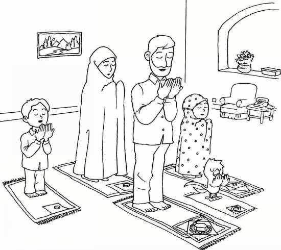 Painting of mah Ramazan 025 - نقاشی ماه رمضان برای کودکان با چند طرح ساده و آموزنده