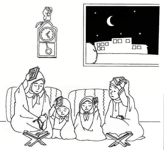 Painting of mah Ramazan 03 - نقاشی ماه رمضان برای کودکان با چند طرح ساده و آموزنده