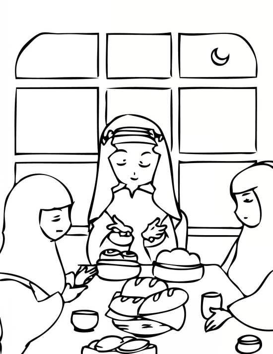 Painting of mah Ramazan 07 - نقاشی ماه رمضان برای کودکان با چند طرح ساده و آموزنده