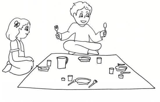 Painting of mah Ramazan 09 - نقاشی ماه رمضان برای کودکان با چند طرح ساده و آموزنده