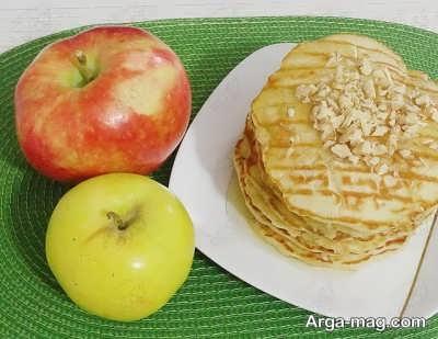 طرز تهیه پنکیک دارچین و سیب