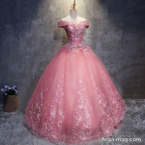 مدل لباس عروس صورتی