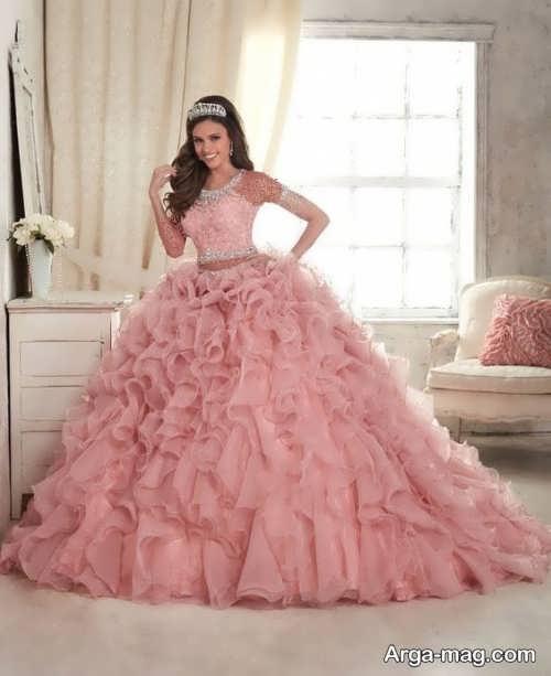 Pink Wedding Dress 18 - ۲۰ مدل لباس عروس صورتی با طرح های جذاب برای عروس خانم های خوش ذوق