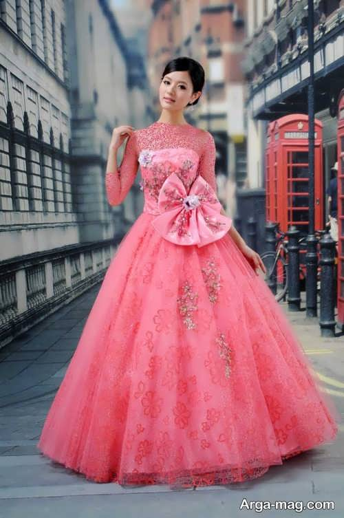 Pink Wedding Dress 2 - ۲۰ مدل لباس عروس صورتی با طرح های جذاب برای عروس خانم های خوش ذوق