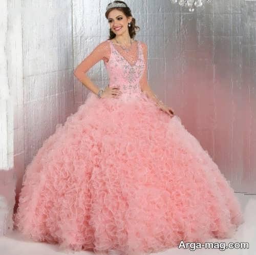 مدل لباس عروس جدید صورتی