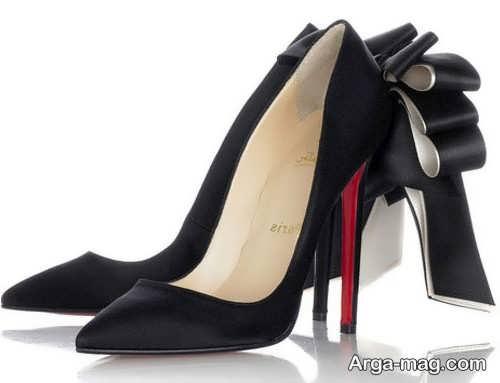 مدل کفش مشکی پاشنه بلند