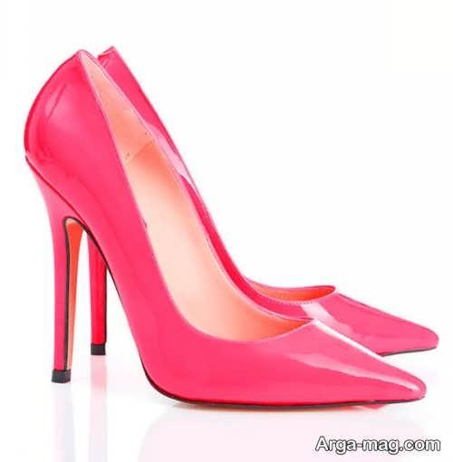 مدل کفش پاشنه دار صورتی