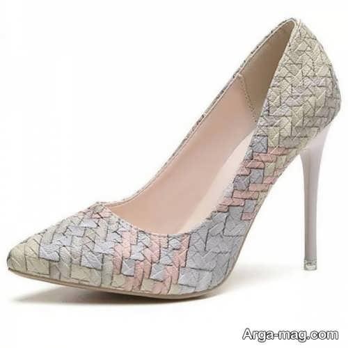 مدل کفش طرح دار نوک تیز