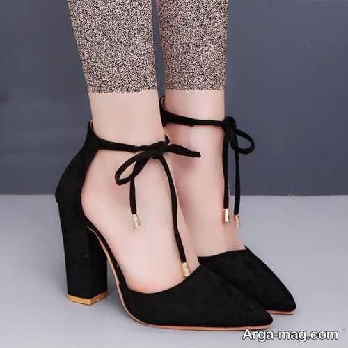 مدل کفش مشکی نوک تیز