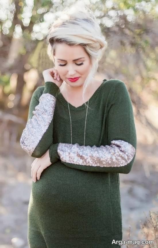 فیگور و ژست عکس بارداری با همسر