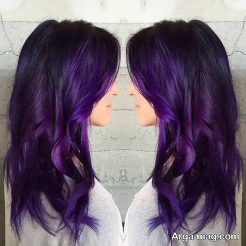 رنگ موی زیبا و شیک بنفش