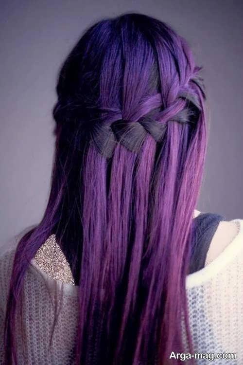 رنگ موی بنفش دخترانه