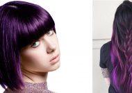 ترکیب رنگ موی بنفش