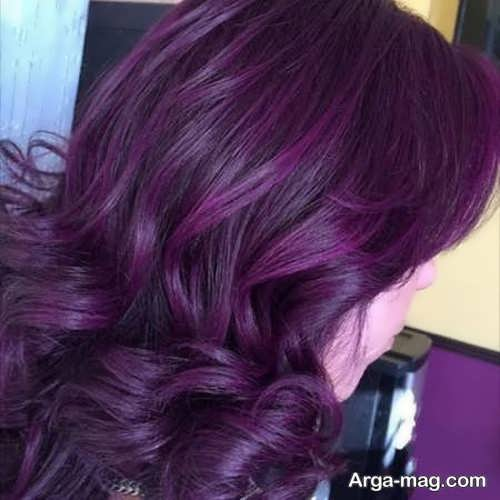 رنگ موی شیک و جدید بنفش