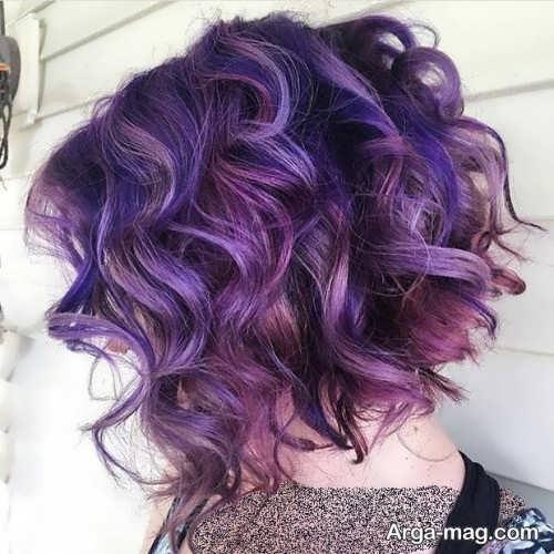 رنگ موی زنانه شیک بنفش