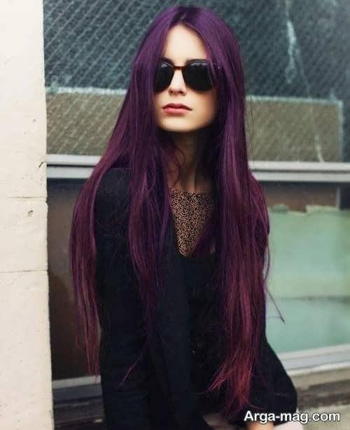 رنگ مو بنفش بادمجونی