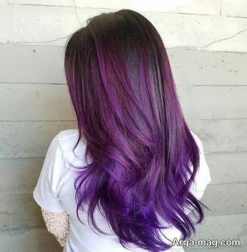 فرمول های ترکیبی رنگ مو بنفش