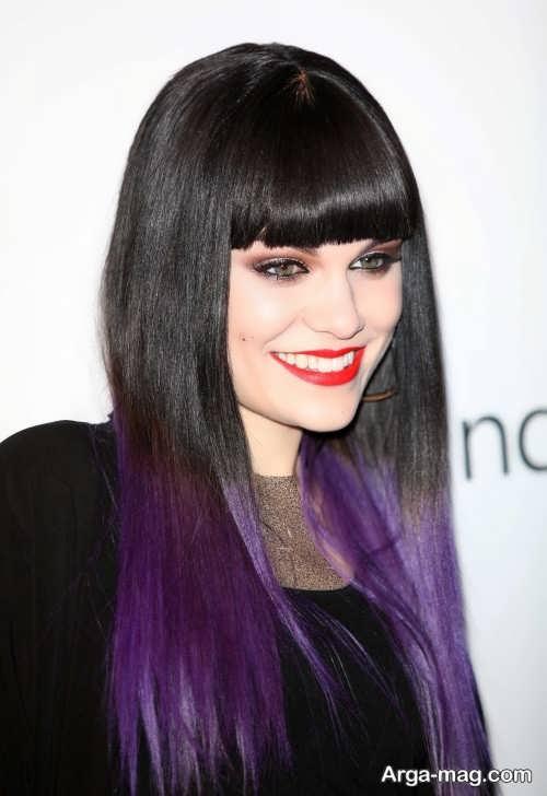 رنگ مو بنفش جدید