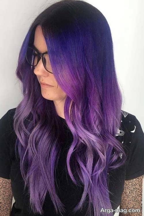 3 فرمول ترکیب رنگ موی بنفش برای خانم های پرانرژی